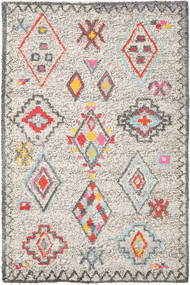 Fatima - Multi Teppich  200X300 Echter Moderner Handgewebter Hellgrau/Beige (Wolle, Indien)
