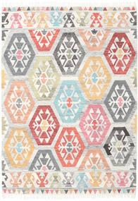 Mayor - Multi Teppich  160X230 Echter Moderner Handgewebter Weiß/Creme/Hellgrau (Wolle, Indien)