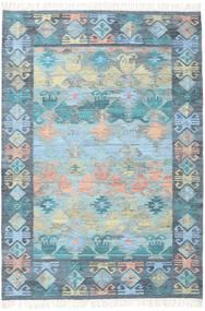 Azteca - Blau Mix Teppich  160X230 Echter Moderner Handgewebter Hellblau/Hellgrau (Wolle, Indien)