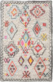 Fatima - Multi Teppich 160X230 Echter Moderner Handgewebter Hellgrau/Beige (Wolle, Indien)