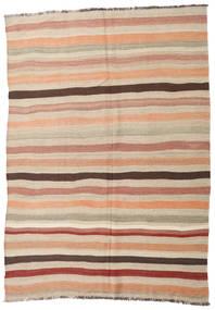 Kelim Halbantik Türkei Teppich 188X268 Echter Orientalischer Handgewebter Beige/Hellgrau (Wolle, Türkei)
