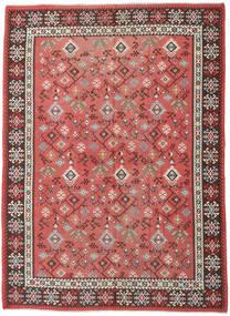 Kelim Russisch Teppich 230X312 Echter Orientalischer Handgewebter Rost/Rot/Dunkelrot (Wolle, Aserbaidschan/Rußland)