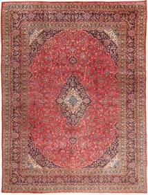 Maschad Teppich 295X390 Echter Orientalischer Handgeknüpfter Dunkelrot/Hellbraun Großer (Wolle, Persien/Iran)