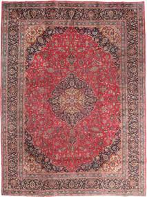 Maschad Teppich 295X395 Echter Orientalischer Handgeknüpfter Dunkelrot/Braun Großer (Wolle, Persien/Iran)