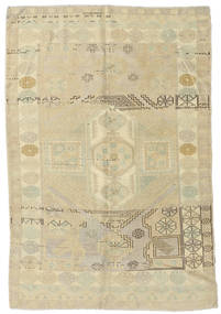 Taspinar Teppich 148X217 Echter Orientalischer Handgeknüpfter Dunkel Beige/Olivgrün (Wolle, Türkei)