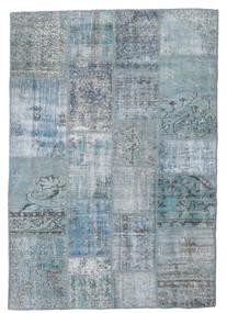 Patchwork Teppich  139X201 Echter Moderner Handgeknüpfter Hellblau/Hellgrau/Blau (Wolle, Türkei)