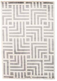 Maze Teppich  170X240 Echter Moderner Handgeknüpfter Hellgrau/Beige ( Indien)