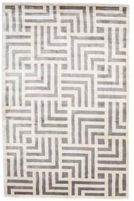 Maze Teppich  200X300 Echter Moderner Handgeknüpfter Hellgrau/Weiß/Creme ( Indien)