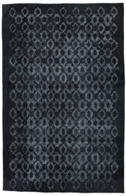 Colored Vintage Relief Teppich 211X327 Echter Moderner Handgeknüpfter Dunkelblau/Dunkelgrau (Wolle, Türkei)