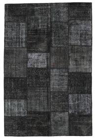 Patchwork Teppich  198X302 Echter Moderner Handgeknüpfter Schwartz/Dunkelgrau (Wolle, Türkei)