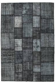 Patchwork Teppich  203X300 Echter Moderner Handgeknüpfter Dunkelblau/Dunkelgrau/Hellgrau (Wolle, Türkei)
