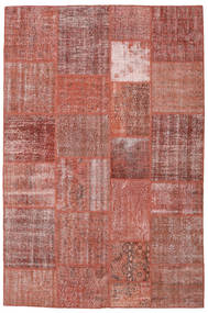 Patchwork Teppich  198X301 Echter Moderner Handgeknüpfter Braun/Dunkelrot (Wolle, Türkei)
