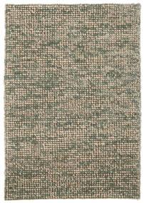 Manhattan - Grün Teppich  140X200 Moderner Hellgrau/Olivgrün/Dunkelgrau ( Indien)