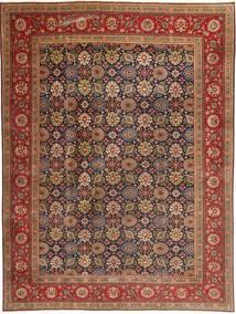 Täbriz Patina Teppich  293X400 Echter Orientalischer Handgeknüpfter Dunkelbraun/Braun Großer (Wolle, Persien/Iran)
