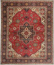 Täbriz Patina Teppich  328X395 Echter Orientalischer Handgeknüpfter Dunkelbraun/Hellbraun Großer (Wolle, Persien/Iran)