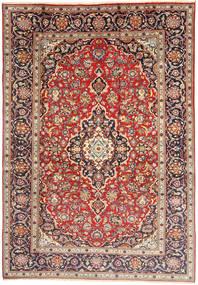 Keshan Teppich 198X292 Echter Orientalischer Handgeknüpfter Hellbraun/Beige (Wolle, Persien/Iran)