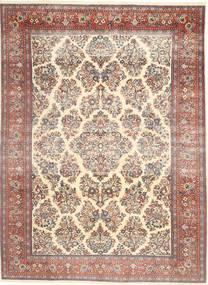 Sarough Patina Teppich 200X280 Echter Orientalischer Handgeknüpfter Beige/Dunkelbraun (Wolle, Persien/Iran)