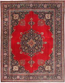 Täbriz Patina Teppich  292X378 Echter Orientalischer Handgeknüpfter Dunkelrot/Rot Großer (Wolle, Persien/Iran)