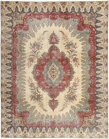 Täbriz Patina Teppich  272X352 Echter Orientalischer Handgeknüpfter Hellgrau/Braun/Beige Großer (Wolle, Persien/Iran)