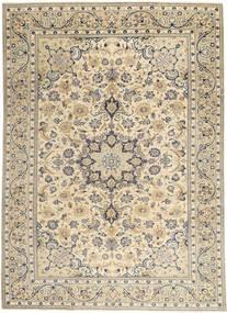 Najafabad Patina Teppich 222X310 Echter Orientalischer Handgeknüpfter Hellgrau/Beige (Wolle, Persien/Iran)