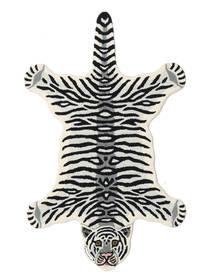 Tiger - Weiß Teppich  100X160 Moderner Schwartz/Beige (Wolle, Indien)