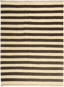 Kelim Teppich  170X230 Echter Orientalischer Handgewebter Beige/Dunkelbraun (Wolle, Persien/Iran)