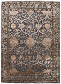 Keshan Indisch Wolle/Viscos Teppich 248X342 Echter Orientalischer Handgeknüpfter Dunkelgrau/Hellgrau (Wolle/Seide, Indien)