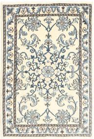 Nain Teppich  60X90 Echter Orientalischer Handgeknüpfter Beige/Hellgrau (Wolle, Persien/Iran)