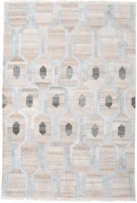Cosmou - Hell Blau Teppich  200X300 Echter Moderner Handgewebter Hellgrau/Weiß/Creme ( Indien)