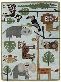 Zoo Handtufted Teppich 170X240 Moderner Hellgrau/Hellblau (Wolle, Indien)