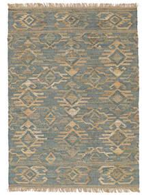 Outdoor-Teppich Kalahari Jute Teppich  200X300 Echter Moderner Handgewebter Hellgrau/Türkisblau (Jute-Teppich Indien)
