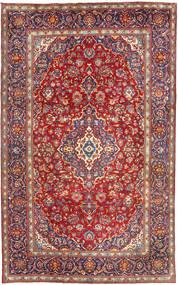 Yazd Teppich  198X315 Echter Orientalischer Handgeknüpfter Dunkelrot (Wolle, Persien/Iran)