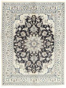Nain Teppich  145X196 Echter Orientalischer Handgeknüpfter Hellgrau/Beige (Wolle, Persien/Iran)