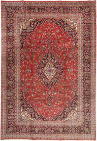Yazd Teppich  243X358 Echter Orientalischer Handgeknüpfter Dunkelrot/Dunkelbraun (Wolle, Persien/Iran)