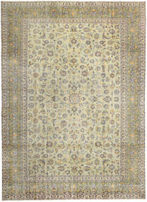 Keshan Patina Teppich 293X405 Echter Orientalischer Handgeknüpfter Hellgrau/Dunkel Beige/Olivgrün Großer (Wolle, Persien/Iran)