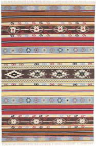 Kelim - Navaja - Navaja Teppich 200X300 Echter Moderner Handgewebter Beige/Dunkelbraun (Wolle, Indien)