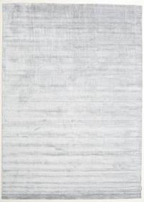 Bambus Seide Loom - Grau Teppich  250X350 Moderner Weiß/Creme/Hellgrau Großer ( Indien)