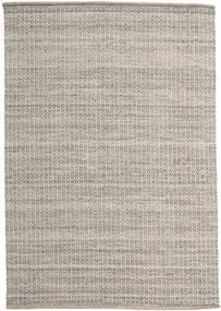 Alva - Braun/Weiß Teppich 160X230 Echter Moderner Handgewebter Hellgrau (Wolle, Indien)