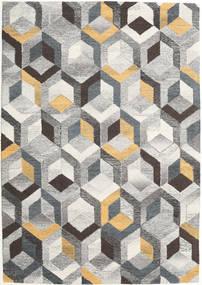 Cube - Grau/Gold Teppich  160X230 Moderner Hellgrau/Dunkel Beige (Wolle, Indien)