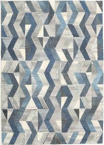 Ziggyn - Grau/Blau Teppich  160X230 Moderner Hellgrau/Dunkel Beige (Wolle, Indien)