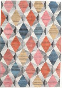 Prisma - Multi Teppich  160X230 Moderner Hellgrau/Hellrosa (Wolle, Indien)