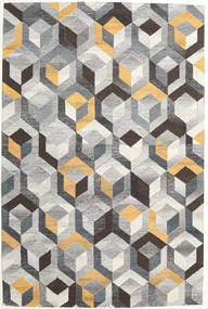 Cube - Grau/Gold Teppich  200X300 Moderner Hellgrau/Dunkelgrau (Wolle, Indien)