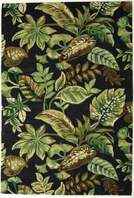 Jungel - Grün/Schwarz Teppich  200X300 Moderner Dunkelgrün/Olivgrün (Wolle, Indien)
