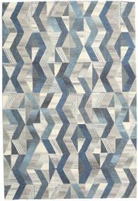 Ziggyn - Grau/Blau Teppich  200X300 Moderner Dunkel Beige/Blau (Wolle, Indien)
