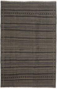 Kelim Persisch Teppich 200X300 Echter Orientalischer Handgewebter Dunkelgrau/Schwartz (Wolle, Persien/Iran)