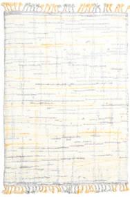 Rakel Teppich  160X230 Echter Moderner Handgeknüpfter Beige/Weiß/Creme (Wolle, Indien)