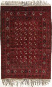 Afghan Khal Mohammadi Teppich 132X182 Echter Orientalischer Handgeknüpfter Dunkelrot/Hellgrau (Wolle, Afghanistan)