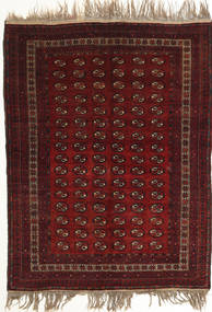 Afghan Khal Mohammadi Teppich 134X180 Echter Orientalischer Handgeknüpfter Dunkelrot (Wolle, Afghanistan)