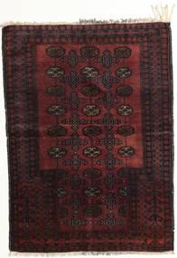Afghan Khal Mohammadi Teppich 95X129 Echter Orientalischer Handgeknüpfter Dunkelbraun/Dunkelrot (Wolle, Afghanistan)