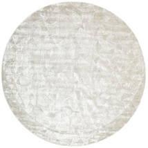 Crystal - Silberweiß Teppich Ø 250 Moderner Rund Hellgrau/Dunkel Beige/Beige Großer ( Indien)
